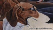 portrait d'un chien - peinture à l'huile.