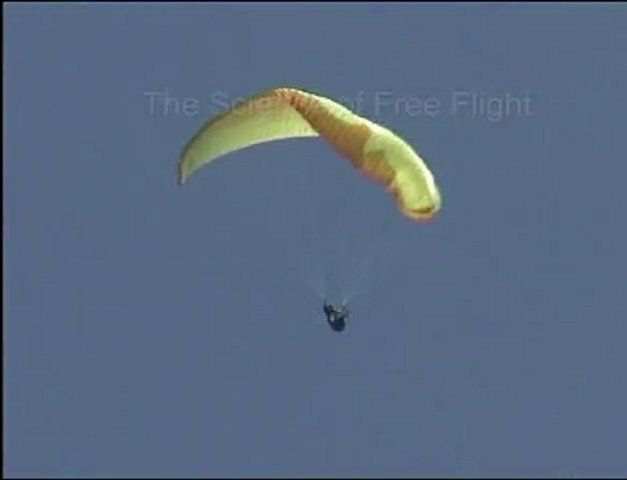 Paragliding collapse in the Science of Free Flight DVD