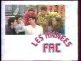 Génerique de la Série Les Annees Fac 12 Juin 1996 TF1