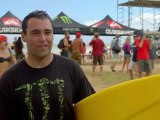 "Monster Energy's Jeff ""Ox"" Kargola tests his skills off the dirt bike & tackles Waimea Bay"