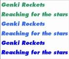 Genki Rockets - Reaching for the stars (Radio Rip)