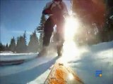 test Jetpack sur skis - testing new personal jetpack on skis