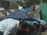 Prière place Tahrir, avant le discours du Premier ministre
