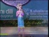15 9.Türkçe Olimpiyatları Endonezya Rahmi Amala Dert bende