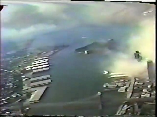 WTC Attack September 11, 2001 from New York Police Helicopte