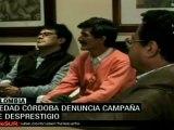 Piedad Córdoba anuncia campaña de desprestigio