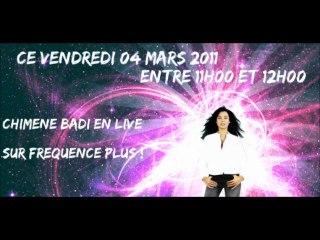 Chimène Badi sur Fréquence Plus