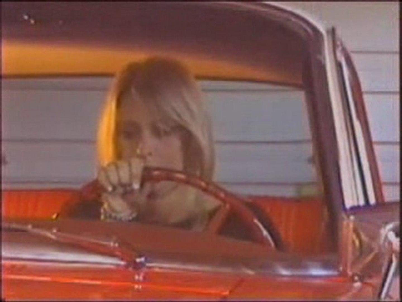 Nicole Cranking Old Car in Flip flop