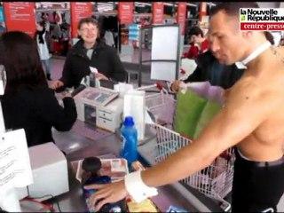 Jardres : des streap-teasers au supermarché