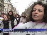 Crèches: les professionnels défilent à Paris