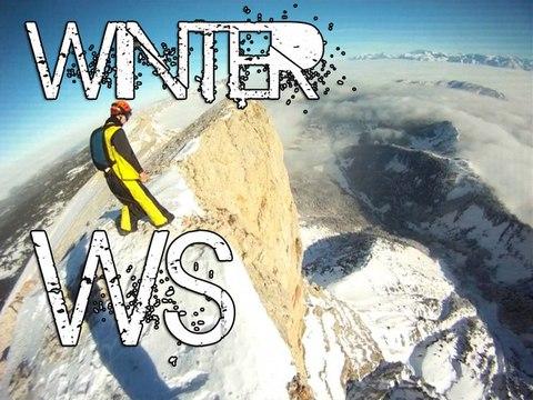 Winter WingSuit BASE Jumping