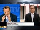 Eric Besson s'exprime sur la menace nucléaire