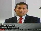 Ollanta Humala: los peruanos quieren el verdadero cambio
