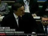 Cameron: implementar medidas más duras contra mercenarios