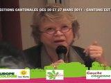 Eva Joly soutient les candidats EELV et PS
