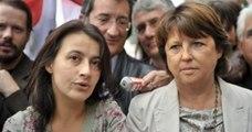 Martine Aubry et Cécile Duflot en campagne au Mans