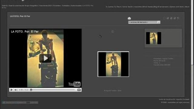 Añadir video a la galeria de nosolofoto