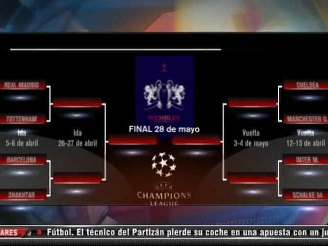 Sorteo de Cuartos de final de la Champions League!!!