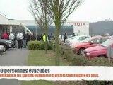 Début d'incendie à Toyota Onnaing