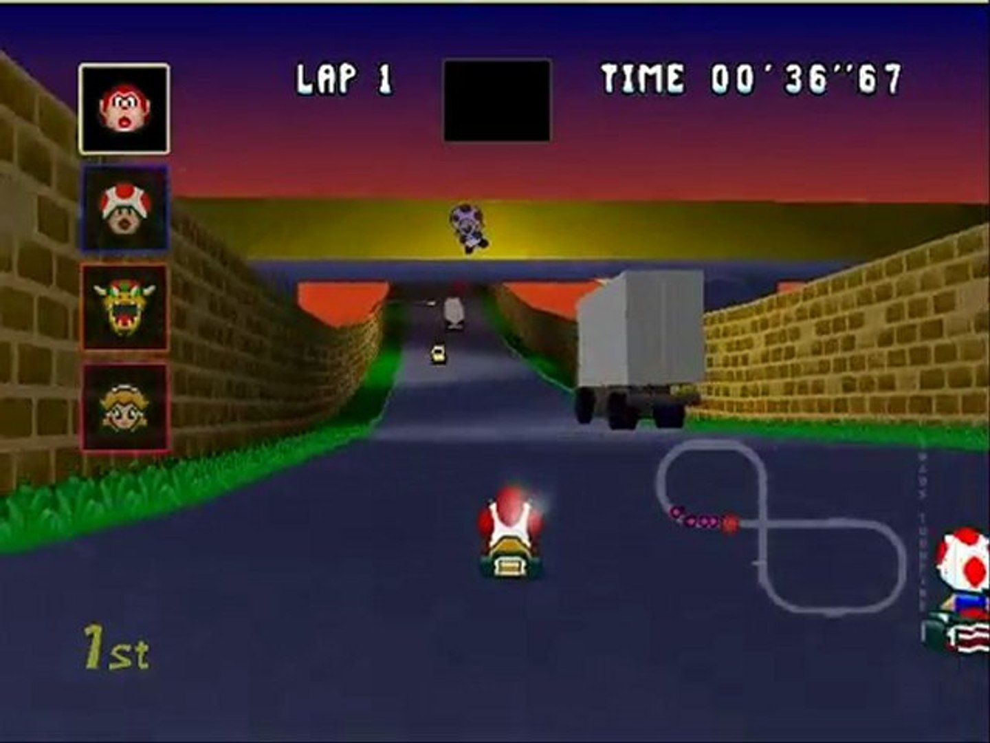 Mario Kart 64 Retexture Super Mario Kart Toad S Turnpike Bfrancois Video Dailymotion