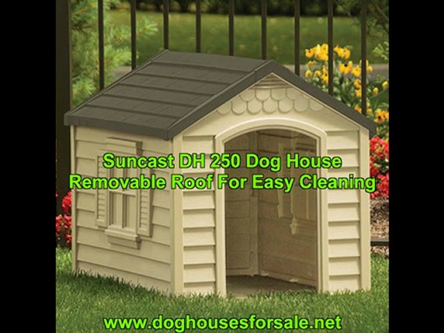 Suncast DH250 Dog House For Easy Cleaning…