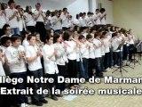 Concert du collège Notre Dame de Marmande