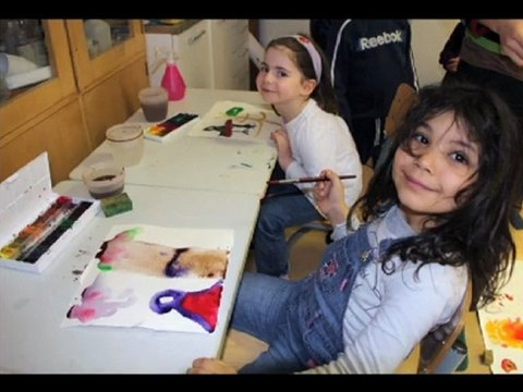 Artistes à l'école, premier diaporama.