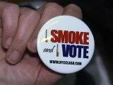 Pro-smoking activist lights up against NY ban