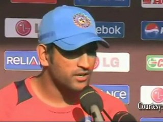 MS Dhoni NOT WORRIED to chase a score to win at ICC Cricket world Cup 2011 !!
