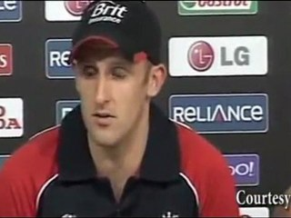MAN OF THE MATCH James Tredwell vs West Indies at ICC Cricket World Cup 2011