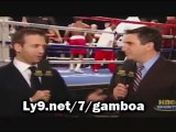 GAMBOA VS SOLIS - Solis Has a Shot!