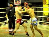 Ji WenHao: Top Chinese Muay Thai Fighter had his first  Muay Thai rule fight  in Thailand