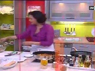 Pain Naan, Cubes de Dinde et Salade Fruit