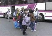 Arrivée des jeunes portugais à Lamballe