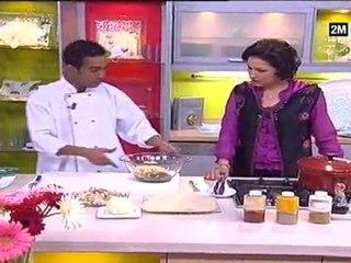 Cuisine de Choumicha - Pastilla Layali Au Poulet Épinard Et Champignon