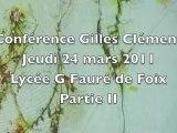 Conférence de Gilles Clément (paysagiste) le 24 03 2011 au lycée Gabriel Fauré de Foix - partie 2