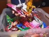 U.S. School Girls Create 1,000 Origami Cranes For Japan