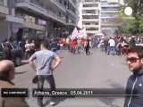 Clashes at Greek protests over budget cuts - no comment