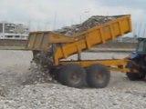 Camion et Galets Plage Le  Havre