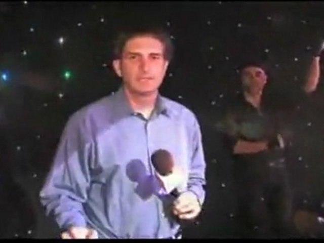 Il reporter rovina il numero da record