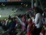 Ici ici ici c'est oyonnax au stade de gerland apres le match Lyon / Oyonnax