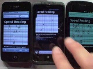 Test Velocità Internet Explorer 9 mobile vs Android vs iOS