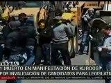 Reprimen protesta de kurdos en Turquía