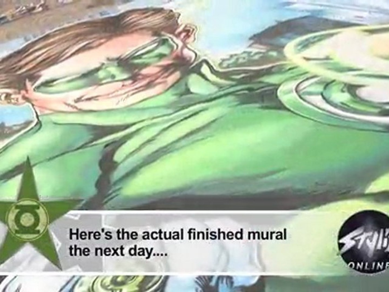 Eric Maruscak: His Chalk Art Green Lantern at C2E2
