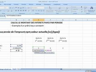 Visionnez les Cours Vidéo de Montant des int�r�ts pay�s dans Excel