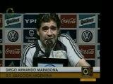 El técnico de Argentina Diego Armando Maradona opina acerca