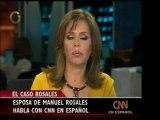 La esposa de Manuel Rosales, Evelying Rosales, declaró a CNN