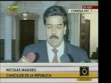 El Canciller Nicolás Maduro habló sobre los acuerdos de Hond