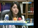 El Foro Penal Venezolano recordó la situación de los presos