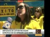 Trabajadores de Hipermercados Éxito en Caracas continúan pro